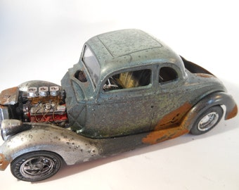 Scale Model Rat Rod Classicwrecks Rusted Car