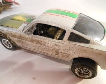 Scale Model Rusted Wreck Mustang Car Classicwrecks