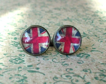 20% OFF -- 16 mm Old vintage British UK flags Cuff Links ,Mens Accessories, perfect gift idea