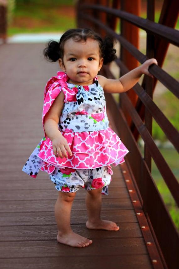 Baby Harper's Pillowcase Ruffle Top & Dress PDF Pattern Sizes Newborn to 18/24m