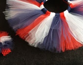 Red, White, and Blue 4th of July Tutu with Headband
