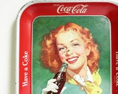 Mid Century 1950's Coke Tray - Woman with Red Hair - Have a Coke - Coca Cola Advertising - Retro Kitchen Decor - Mother's Day Gift