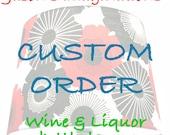 Custom Jameson order for Erica