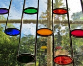 Rainbow Cylinder Tubes Stained Glass Original Optical Illusion