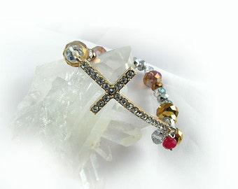 Crystal Cross Stretchy Bracelet