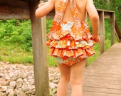 Ruffle Bottom Sunsuit - Sizes NB - 4T