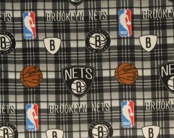 NBA New Jersey Nets Fleece V3 Fabric by the yard