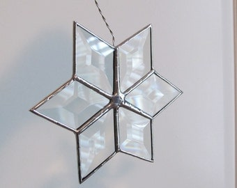 """Holiday """"Star"""" Beveled Ornament for your Christmas Tree or Holiday Package Embellishment"""