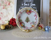 Christmas Roses Dollhouse Plate
