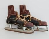 Pair of antique or vintage Ice skates