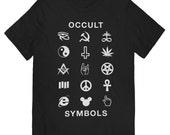 Occult Symbols Black T-shirt - UNISEX sizes S, M, L, XL