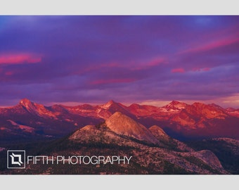 Mountains of Fire, Yosemite. Fine Art Giclée Canvas Wrap