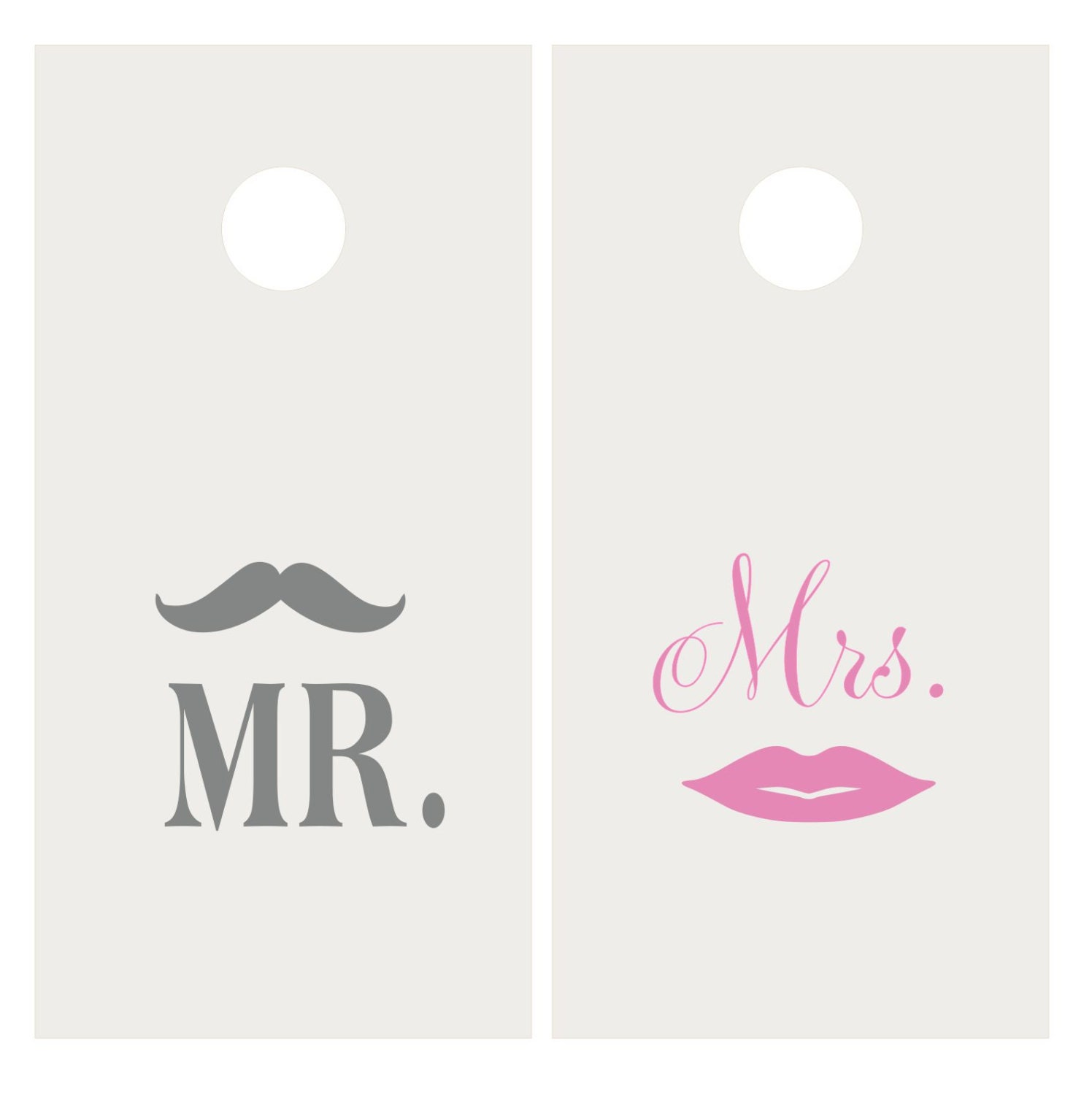Mustache And Lips Vinyl Decal Set