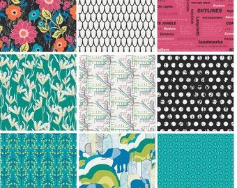 Art Gallery Fabrics Jungle Ave Complete FQ Bundle