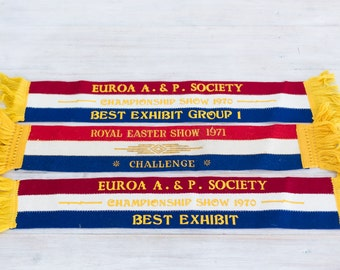 vintage 1970-71 champion dog show ribbons