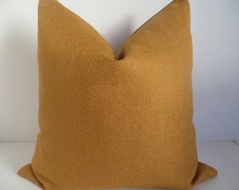 Decorative Pillow-Tangerine Metallic Woven- Mustard Lumbar- Gold Lumbar- Home Decor- Home Lumbar- Accent Home
