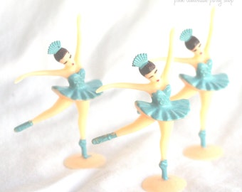LiTTLe Ballerina cupcake toppers--12ct blue--ballerina theme--ballet--girls-birthday party