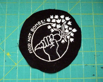 Food Not Bombs - sew on patch