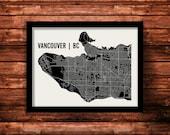 Vancouver Map Art Print | Vancouver Print | Vancouver Art Print | Vancouver Poster | Vancouver Gift | Wall Art