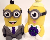 Minion Wedding  Cake Topper - Choose Your Colors