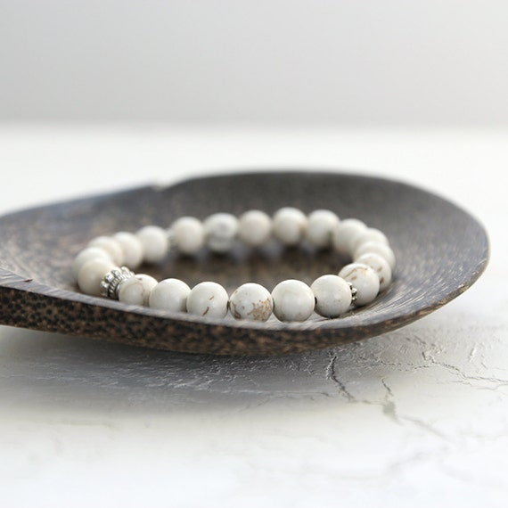 Howlite Bracelet - White Gemstone Jewelry