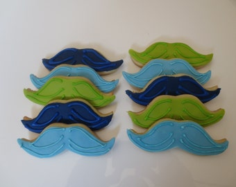 Mustache Party Favor Cookies -  Handmade - Kosher - 1 Dozen
