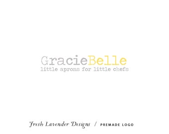 Premade Logo Design for Photographers and Small Crafty Boutiques Two Toned Typewriter Font
