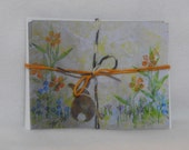 Note Card Set Bunny in the Grass Original Art