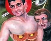 Canvas Print / Ayn Rand Admires The Pancake Abs Of Paul Ryan