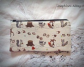 FREE SHIPPING-Brown Orange Fox Pencil Case from Josephine's Abbey