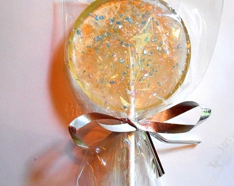 6 Sparkle Lollipops, Suckers, Wedding Favors, Baby Shower, Corporate Party, Pink, Blue, Sparkles, Personalization