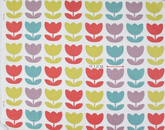 Mod le scandinave tissus fleuris tulip moderne tissu par afabricday - Tissus fleuris anglais ...