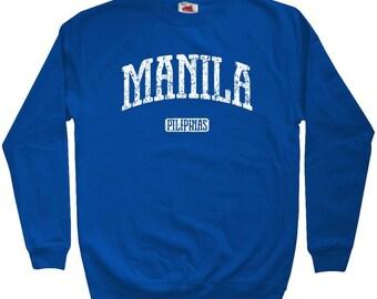 Manila Sweatshirt - Philippines - Men S M L XL 2x 3x - Crewneck Filipino Sweatshirt - 4 Colors