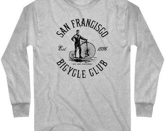 LS San Francisco Bicycle Club Tee - Long Sleeve T-shirt - Men and Kids - S M L XL 2x 3x 4x - SF Cycling - 3 Colors
