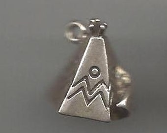 925 Sterling 3D Teepee Charm