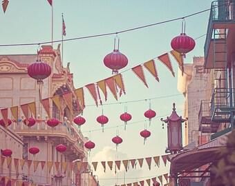 San Francisco Art, Chinatown Red Lantern Photograph, Urban Photo Decor, San Francisco Photography, SF Decor, SF Print