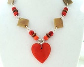 Tagua Nut Jewelry, Eco Friendly, Silver Heart Necklace, Natural Tagua Necklace, Valentines Day Love Heart