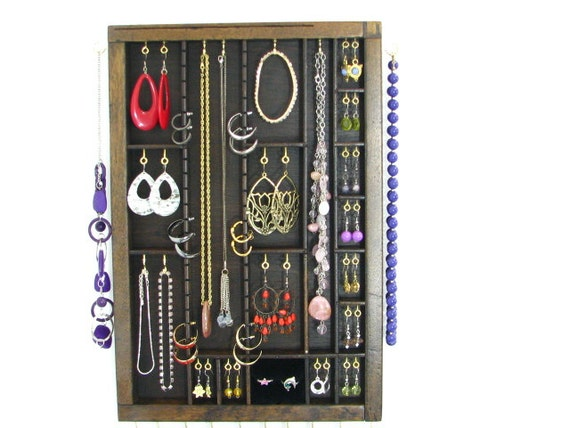 Printer Drawer Jewelry Display with ring cubby and stud slots