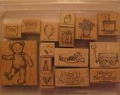 Retired Favorite Teddy Bear Stampin' Up Stamp set of 15