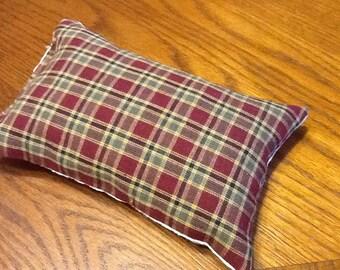 Cabin Plaid Hops Pillow - Hops Sachet Pillow - Hops Aromatherapy Pillow