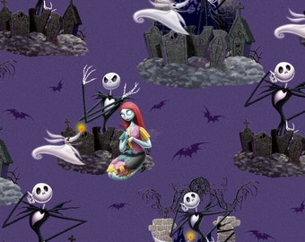 PRE-ORDER Brand New Nightmare Before Christmas Cotton Fabric - 1 yard ...