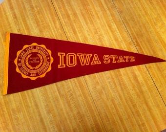 Iowa State University Vintage Felt Pennant