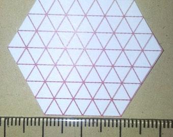 100 hexagon patchwork paper templates size 2 cm