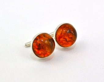 Cufflinks Gemstone and Sterling Silver - Father's Day Gift
