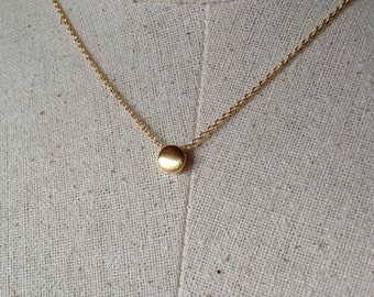 Gold Dot Necklace, 18k Gold, Dainty Necklace, Tiny Dot Necklace