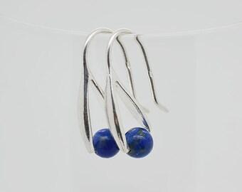 Lapis Sterling Silver Earrings 61