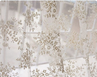 off white lace fabric