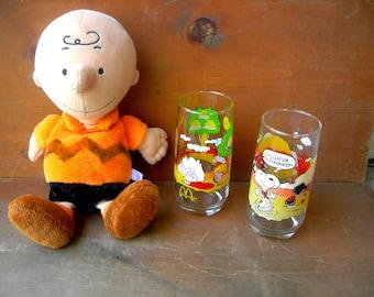Vintage snoopy glass peanuts camp mcdonalds