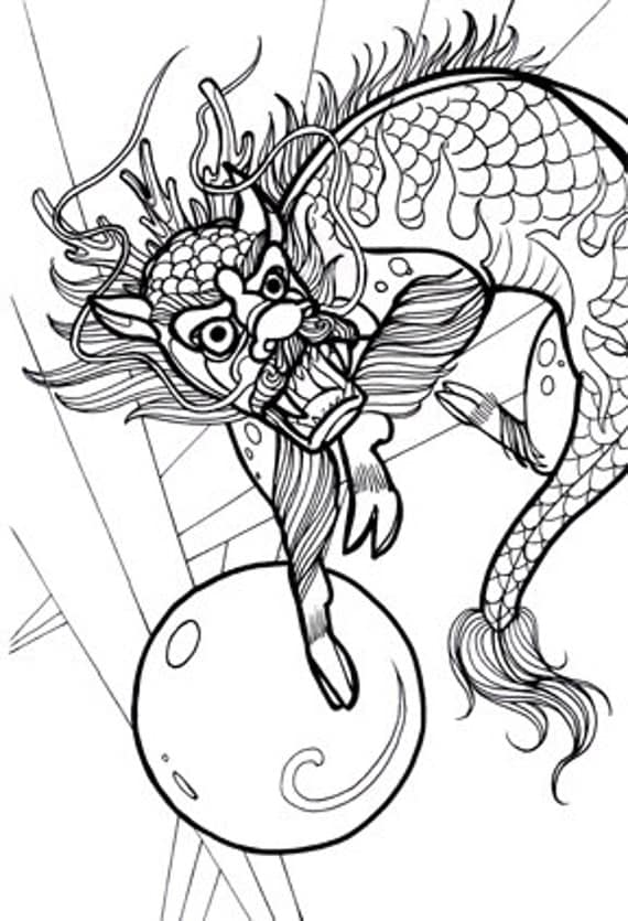 cryptid coloring pages - photo#12