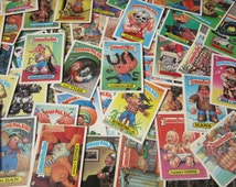 Lot of 25 Randomly Chosen Vintage Garbage Pail Kids Sticker Cards Topps 1986 Original Series Loose Cards 80s GPK Collectible Cards 1980s VTG